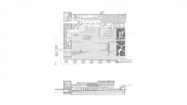 Ground Plan, Longitudinal Section